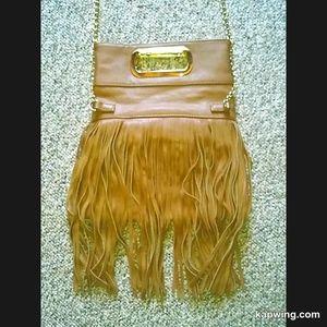 Vegan Fringe Crossbody Handbag Purse Chain Strap